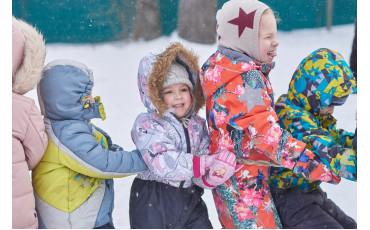 Зимние уличные забавы в детском саду!